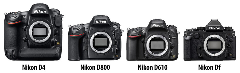 Nikon full-frame DSLR Size Comparison