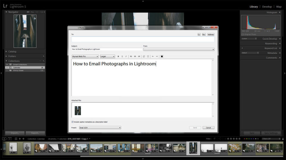 How to Email Photographs in Lightroom