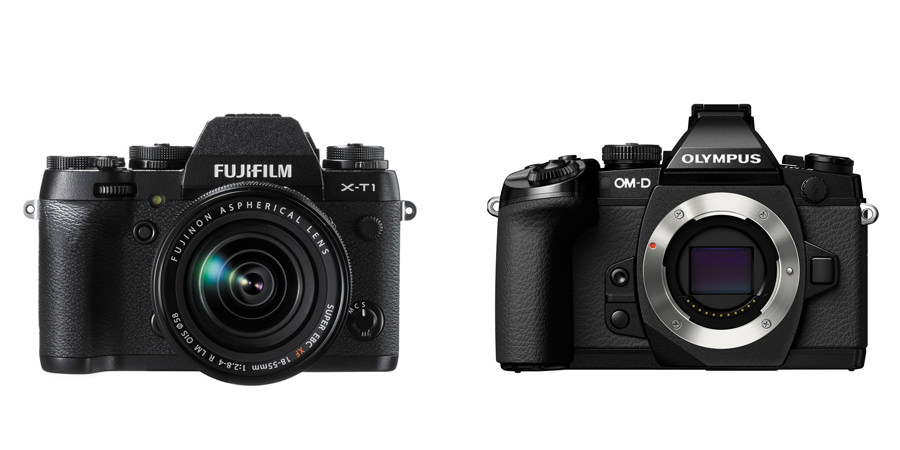 Fuji X-T1 compared to Olympus OM-D E-M1