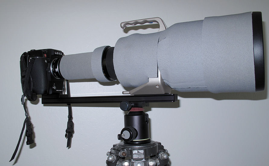 Leica and 800mm Lens Custom Arca-Swiss Work