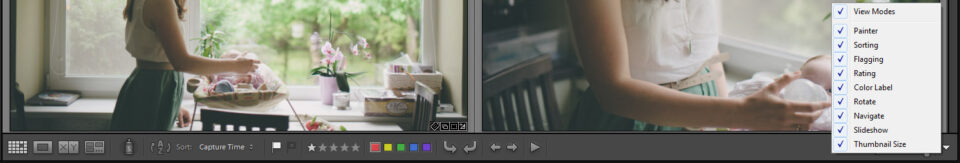 Library Module Toolbar in Lightroom