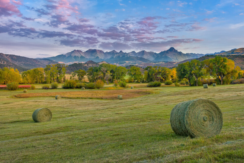 San Juan Mountains Hay Sunset