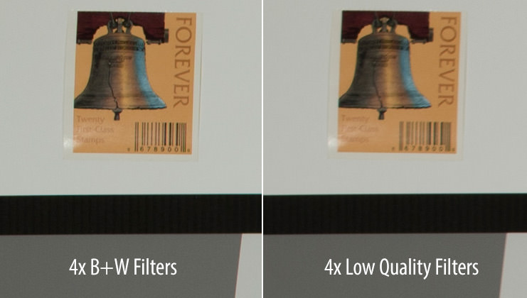 B+W vs Low Quality Filters