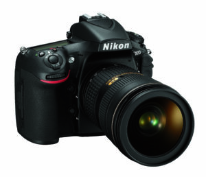 Nikon D810 Front Right with Lens