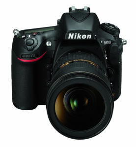Nikon D810 Front Top with Lens