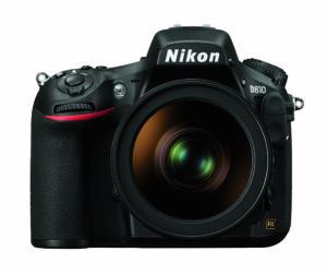Nikon D810 Front with Lens