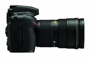 Nikon D810 Right with Lens