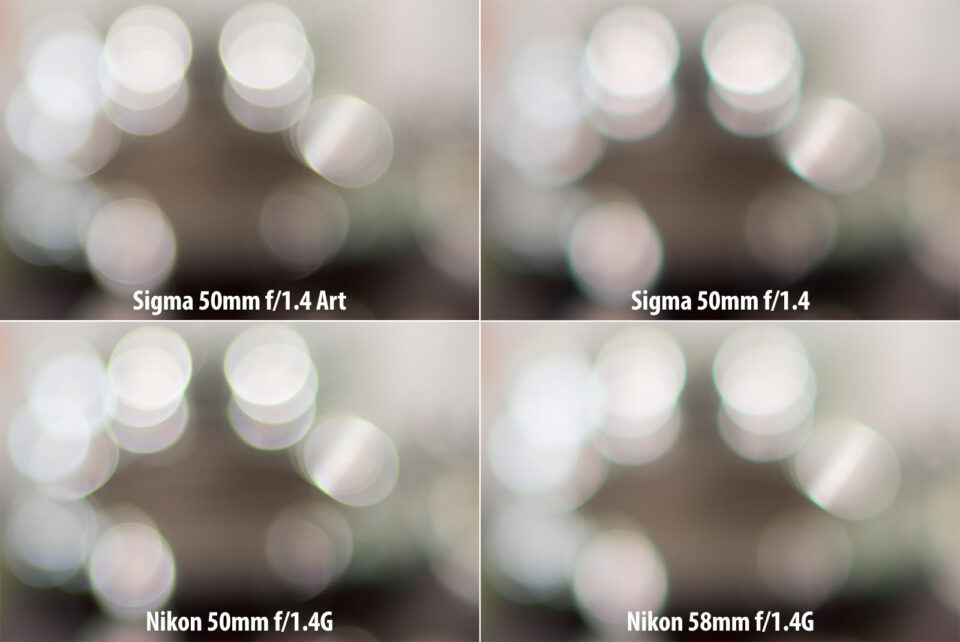 Sigma 50mm Art vs Sigma 50mm vs Nikon 50mm vs Nikon 58mm Bokeh Highlights