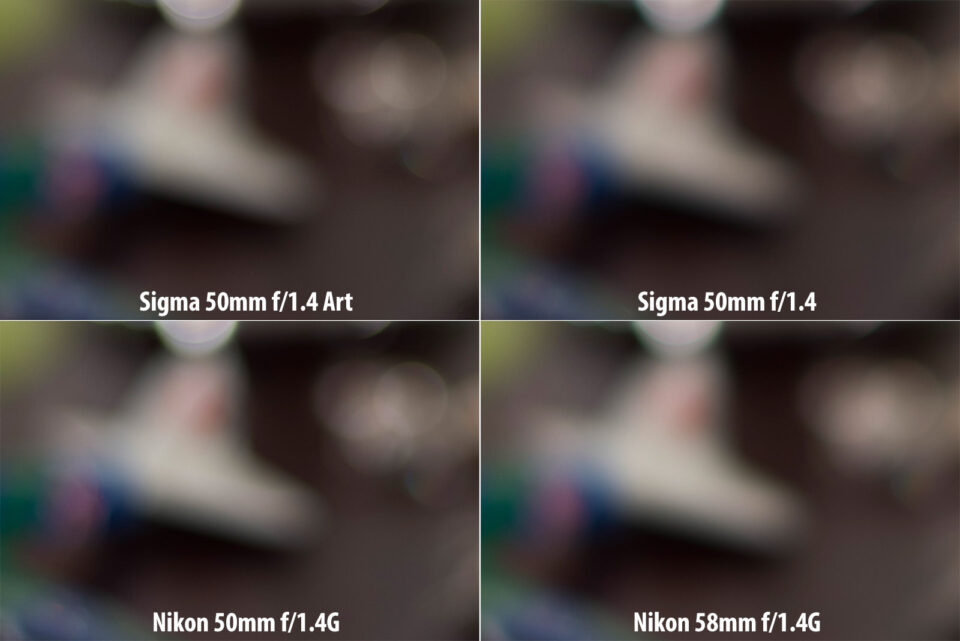 Sigma 50mm Art vs Sigma 50mm vs Nikon 50mm vs Nikon 58mm Bokeh Render
