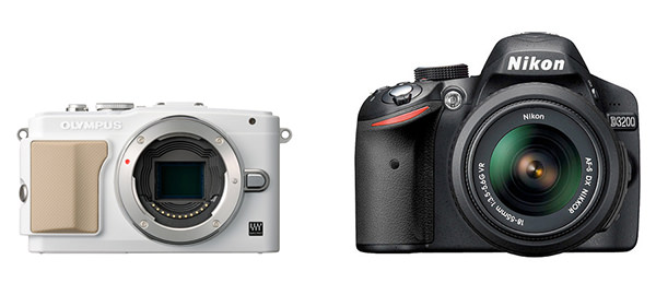 Mirrorless vs DSLR size comparison