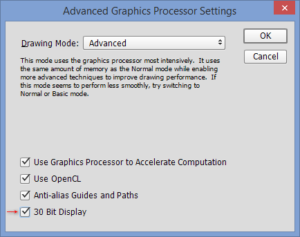 Photoshop 30 Bit Display