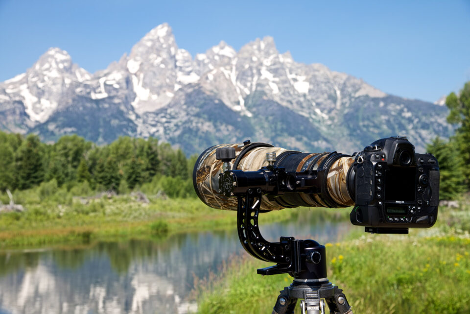 Tomahawk Gimbal Attachment on location in the Tetons