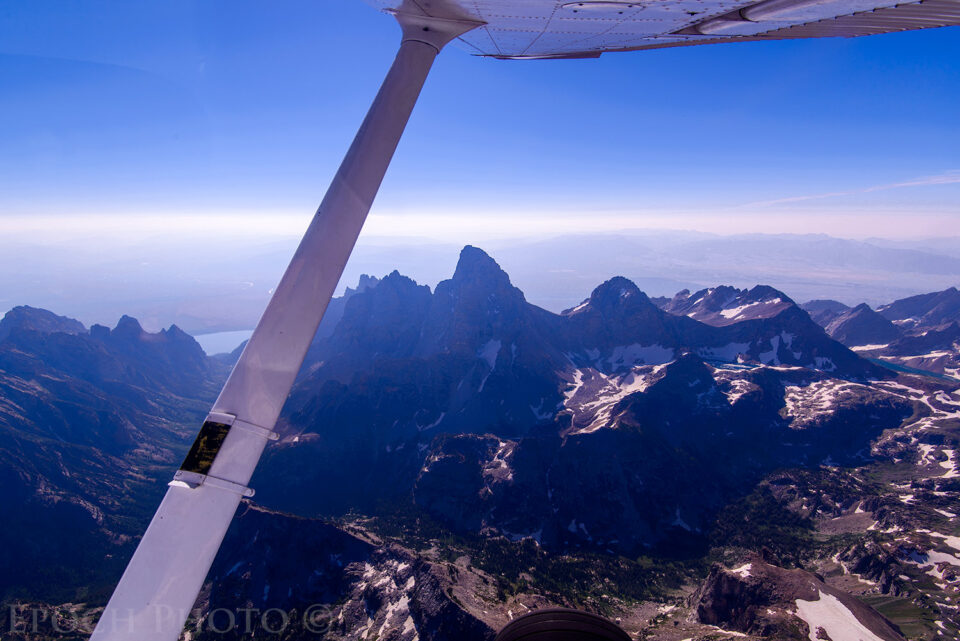 Tetons From The Air
