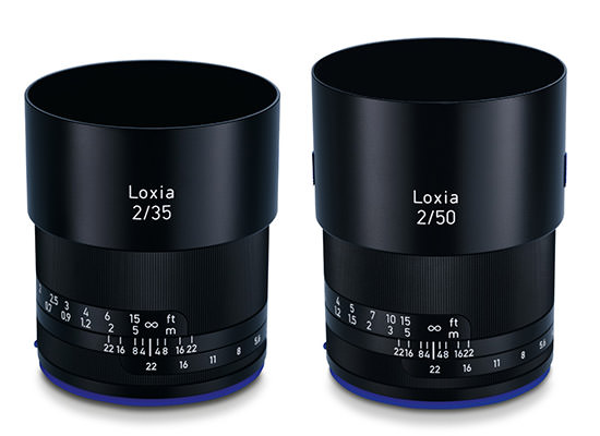 Zeiss Loxia 35mm f2 and 50mm f2
