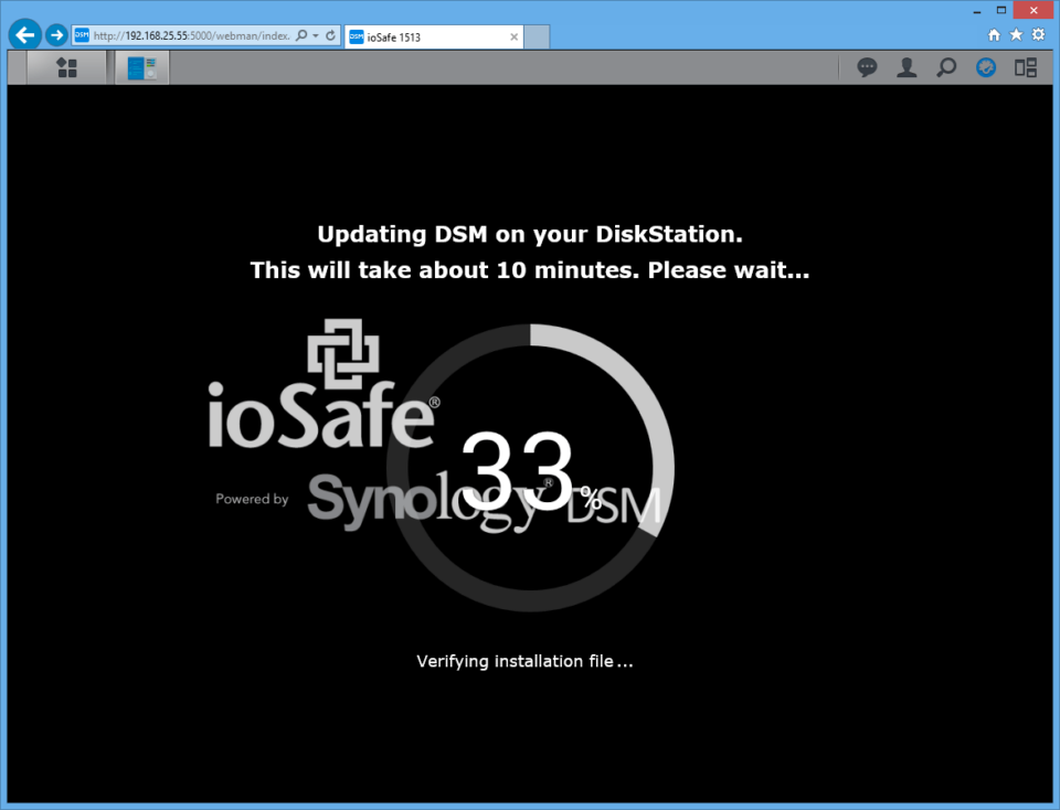 ioSafe 1513 Firmware Update