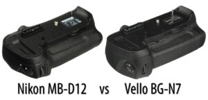 Nikon MB-D12 vs Vello BG-N7
