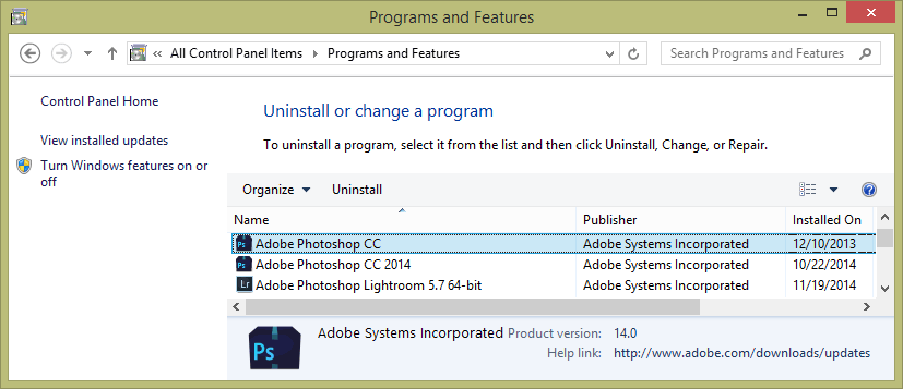 Adobe Photoshop CC and CC 2014 on the Same Computer