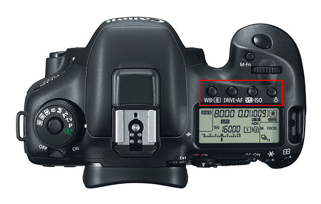 Canon 7D Mark II Top Controls