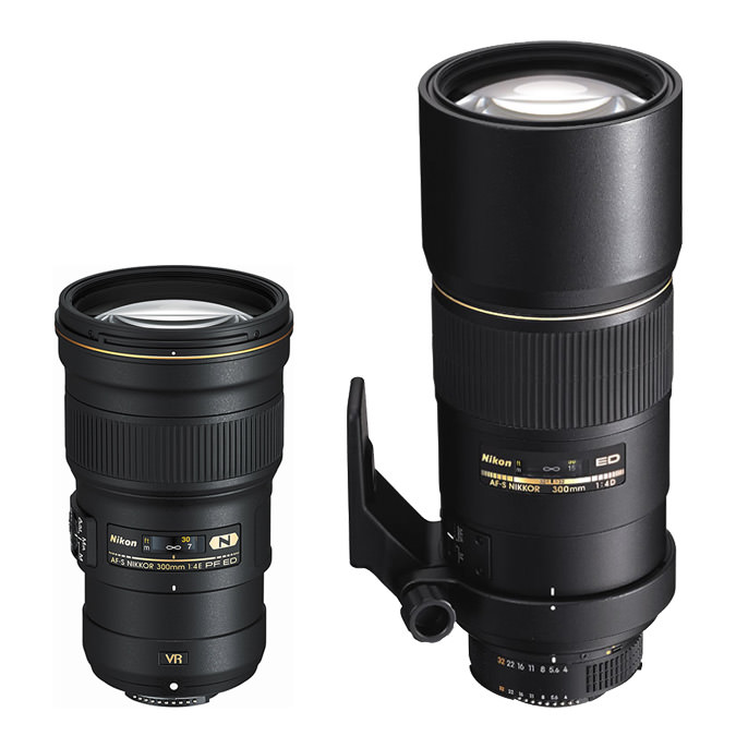Nikkor 300mm f/4D IF-ED vs Nikkor 300mm f/4E VR