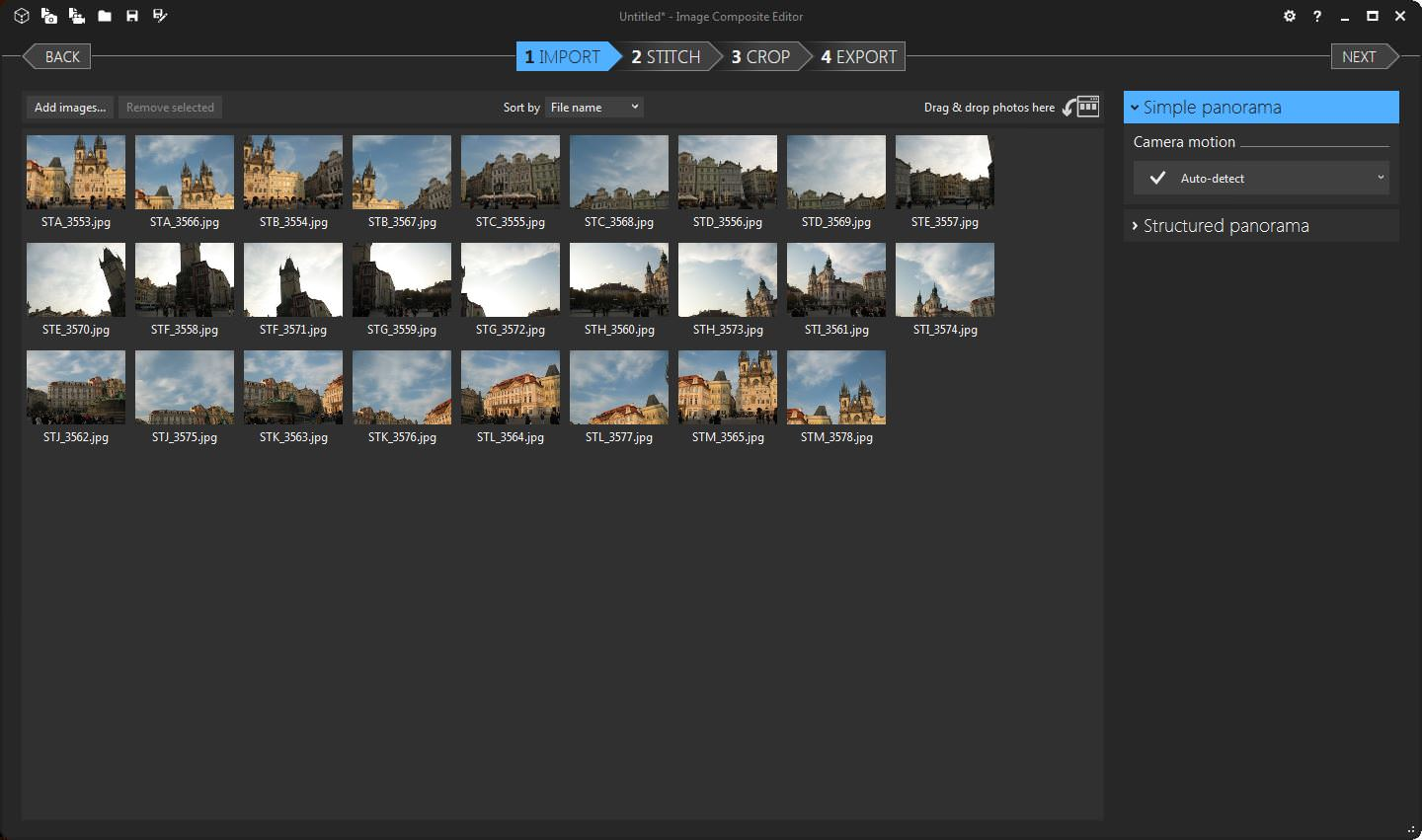 Stitching Images with Microsoft ICE