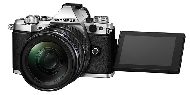 Olympus OM-D E-M5 II Front with LCD