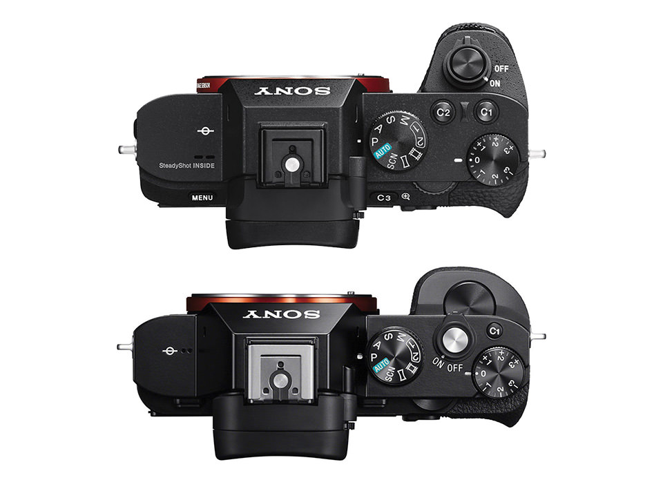 Sony A7 II vs A7 Top