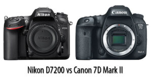 Nikon D7200 vs Canon 7D Mark II
