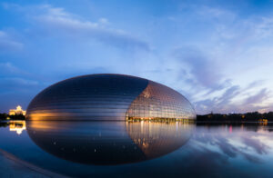 4-Beijing Opera House Sunset