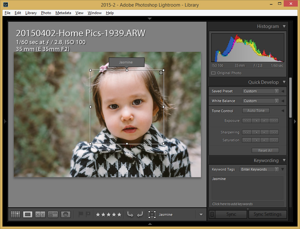 Lightroom 6 Face Recognition