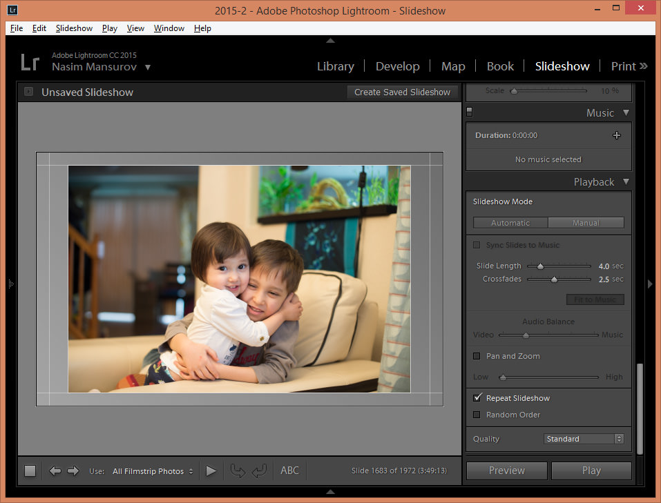 Lightroom 6 Slideshows