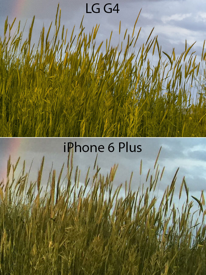 LG G4 vs iPhone 6 Plus Details 2