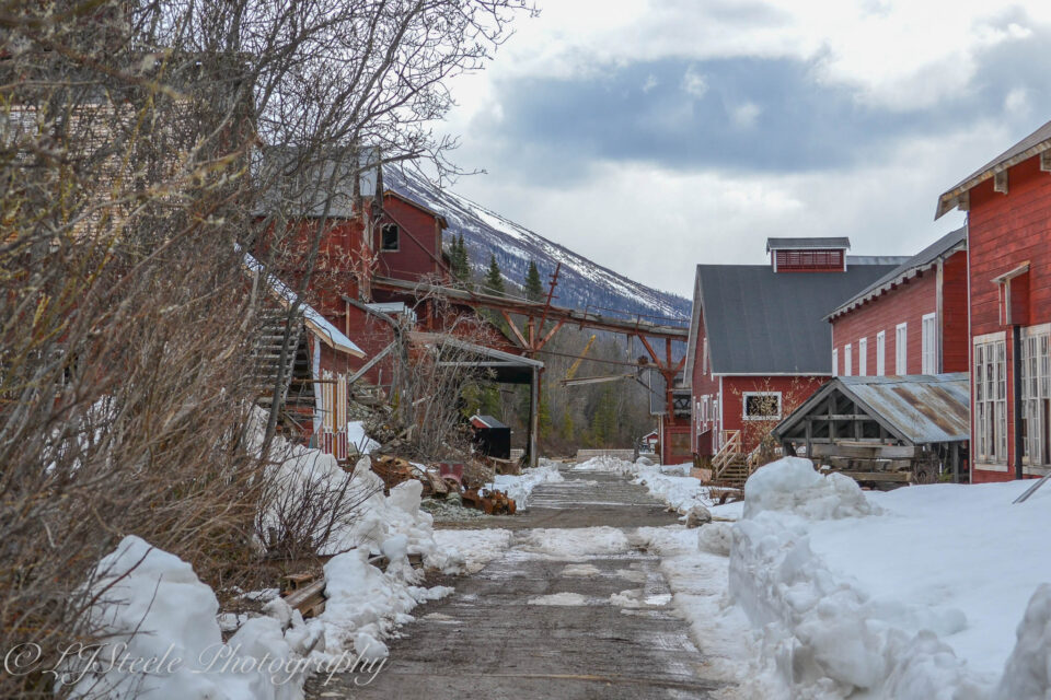Vestiges of snow at the Kennecott Mines