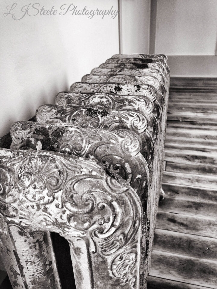 An old radiator in one of the restored Kennecott Mine buildings.