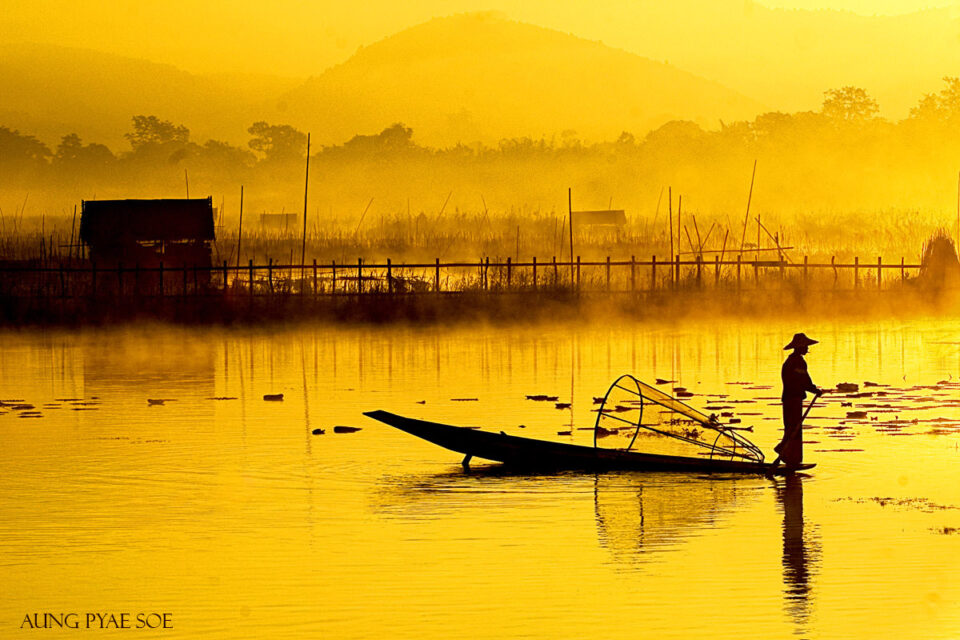 7. Aung-Pyae-Soe - Inle Lake Yellow Dawn Myanmar