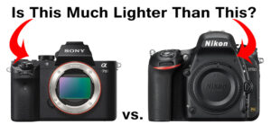 The Mirrorless Weight Advantage?