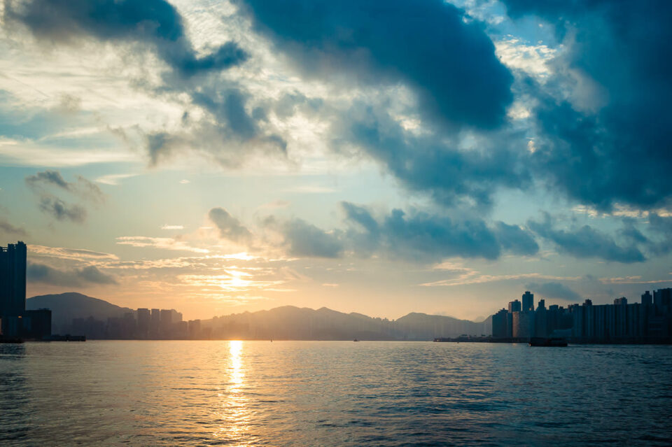 Sunrise over Hong Kong