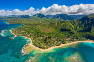 Bird's eye view of Wainiha