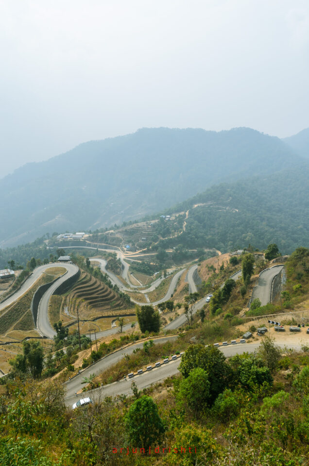 Bends of the Dhulikhel Bardibas BP Highway #2