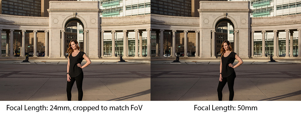 Focal Length Comparison Cropped