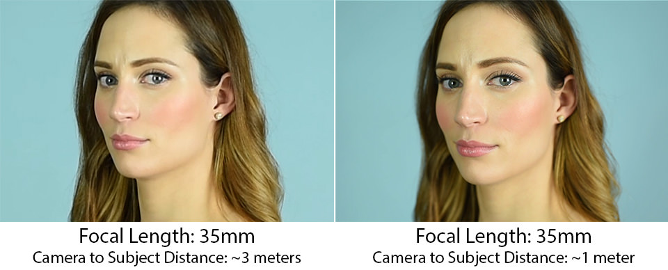 Focal Length Face Distortion