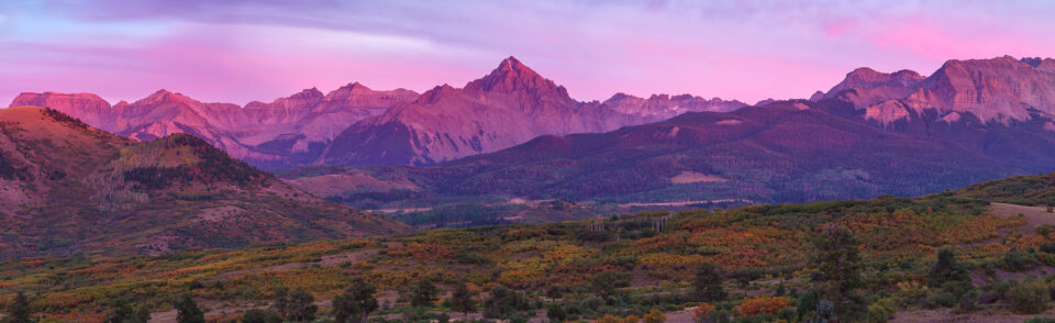 Mt Sneffels After Sunset Panorama