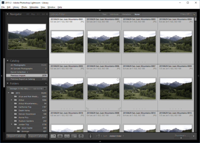Lightroom Select all JPEG Images