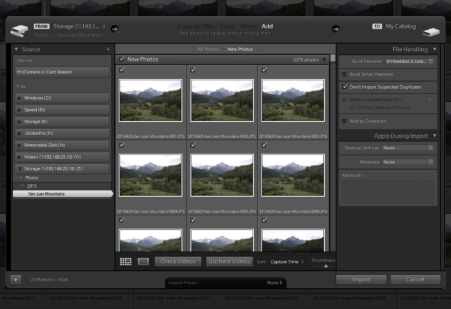 Lightroom Synchronization of JPEG