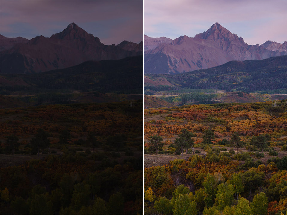 A7R II Before and After Recovery
