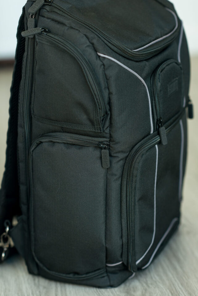 USA Gear S17 Camera Backpack side view