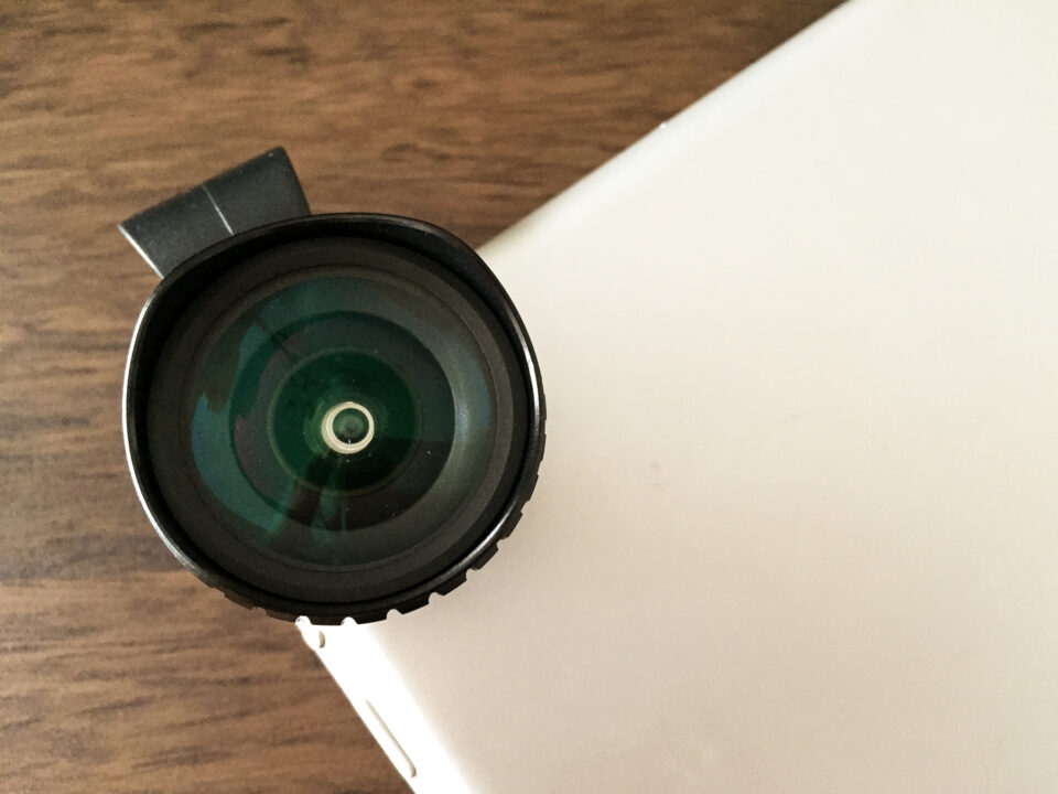 Aukey Cell Phone Lens on iPad