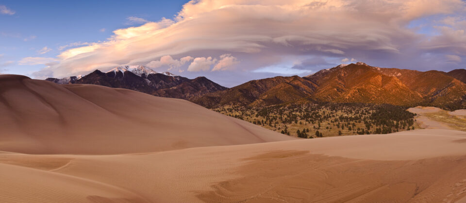 Great Sand Dunes Sunset Panorama