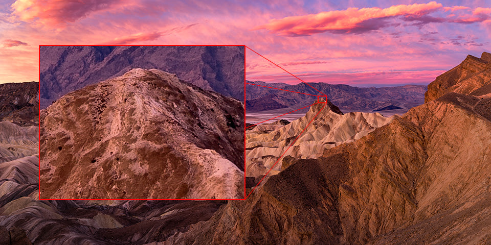 Zabriskie Point Panorama Details