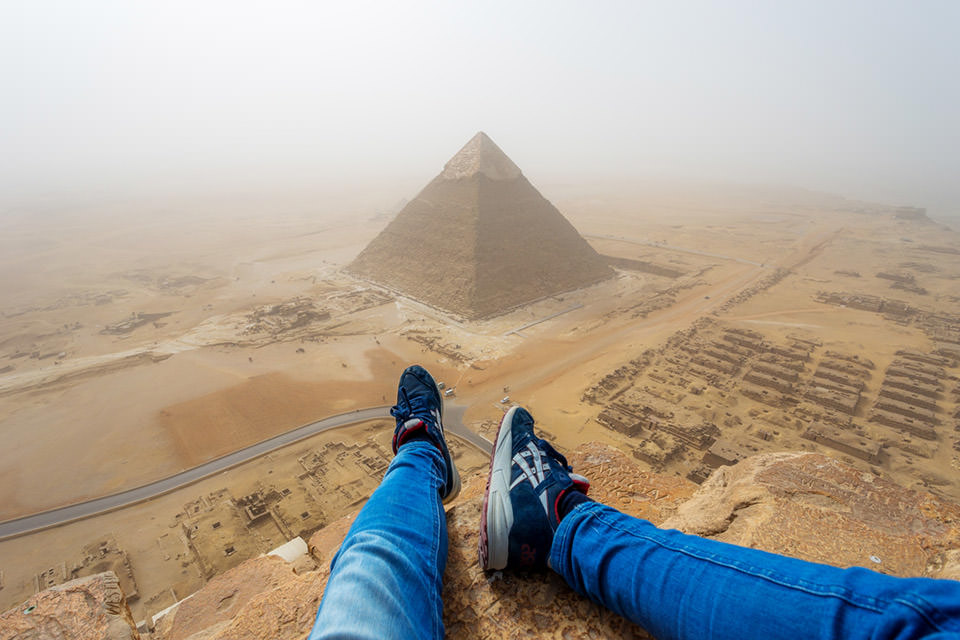 Teenager Pyramid of Giza Climb