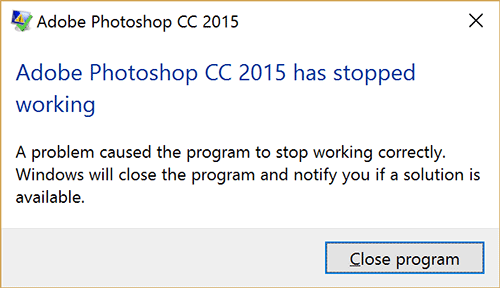 Photoshop CC 2015 Crash